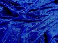 Crushed Velvet Velour Fabric Material - ROYAL
